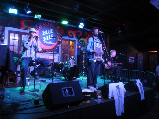Live band performance in Frenchmen Street