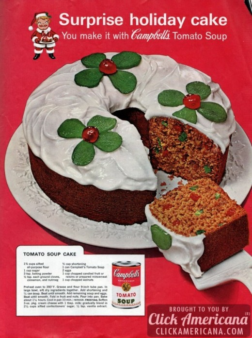 Surprise holiday cake! You make it with Campbell's tomato soup