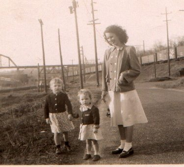 My mother and her first two daughters, Connie and Sandra.  My mother loved all of her children.
