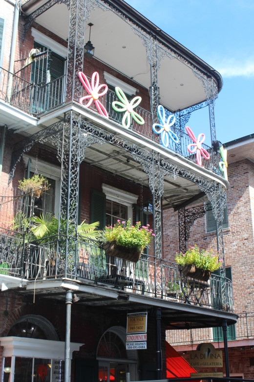 French style building in the French Quarter