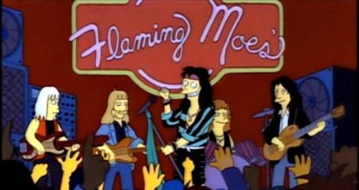 """Aerosmith rock out at """"Flaming Moe's"""""""