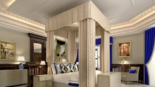 Quite a stately bedchamber, even for the super rich.