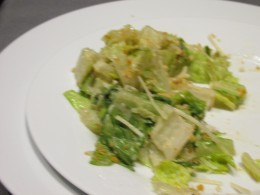 A delicious Caesar salad was served at the beginning of the meal. Catering by Vitarellis, out of Oakland, NJ served as the caterer.