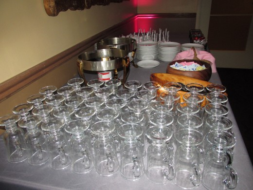 Beautiful displays of various beverages were available for the guest.