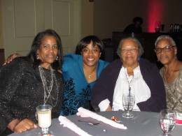 Susie Carter, on the right is one of the oldest family members who attended the wedding and reception as well as cousins of the bride.