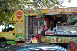Food truck we ate from. There were tons.