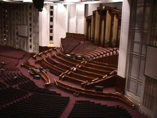 All 10,000 seats have unobstructed views of the front of the Center. where the LDS Prophet, General Authorities, and the Tabernacle  Choir sit.