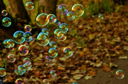 Those Colorful Bubbles in Life Waiting to Be Busted
