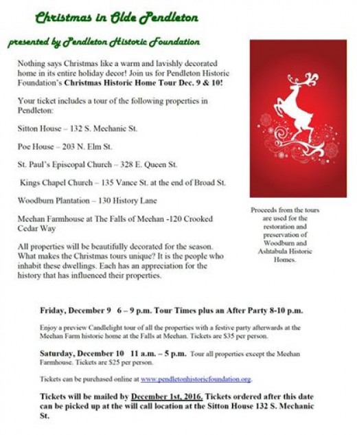 Get your ticket on the Pendleton Historic Foundation website