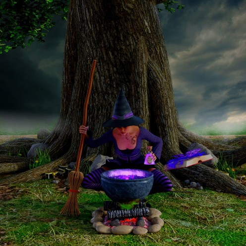 Get a small cauldron if you're planning to go trick or treating, so it will be easier to carry around. If you'll be handing out goodies, then get a bigger cauldron