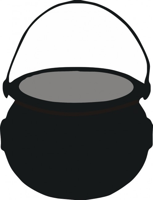 This cauldron can serve as an accessory for your witch costume and as a place to store your candies and other goodies