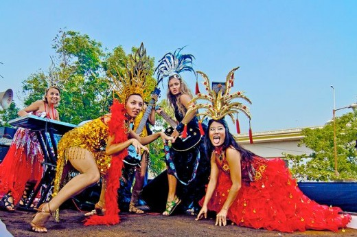 """Goa Carnival celebrated in Feb is a typical Latin, song, music and dance and precedes the """"Lent""""."""