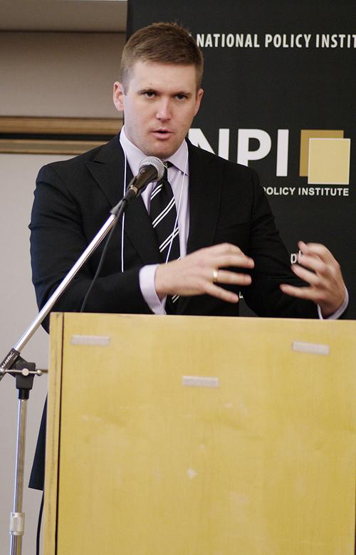Richard B.Spencer giving a speech for the NPI.