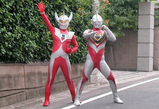 Woo hoo!  It's Ultraman.  Just go with it!