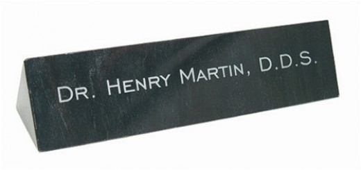 Every desk needs a laser engraved marble name plate