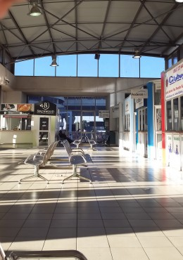 Inside of the bus terminal.