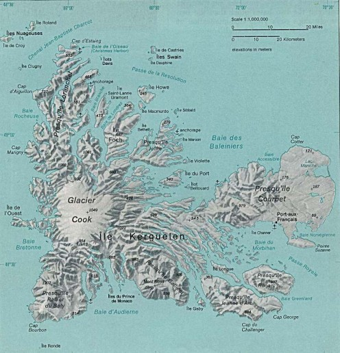 The Kerguelen Archipelago is an ideal location for a secret supply base of operations for Antarctica and permanent miltary population.