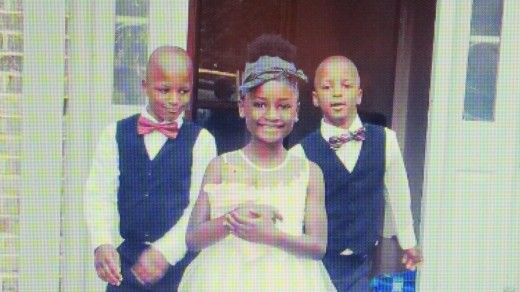 The children of Darlena and now they have four with the addition of Raymond's son.