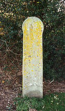 Piltdown Man Memorial Marker, still in place today.