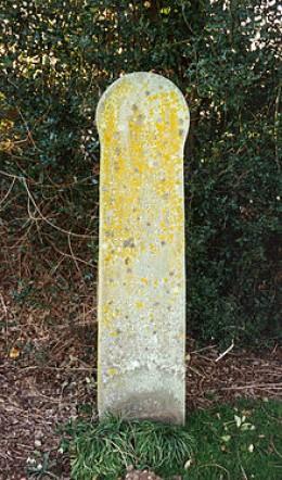 Piltdown Man Memorial Marker, still in place today.