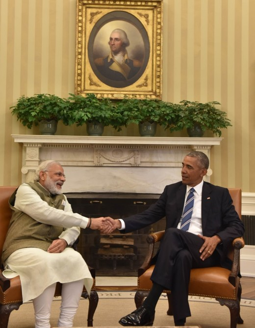 Modi meeting Obama in US