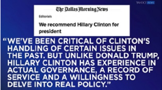 The Dallas Morning News endorsement of the 2016 Presidential Election