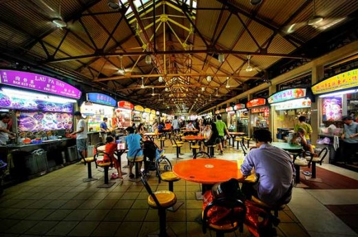 Maxwell Food Market. One of Singapore's most popular hawker centres.