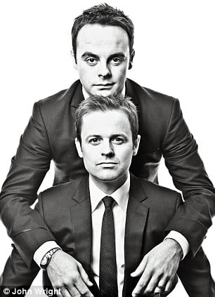 Presenters of 'Im A Celebrity Get Me Out Of Here' Ant and Dec.