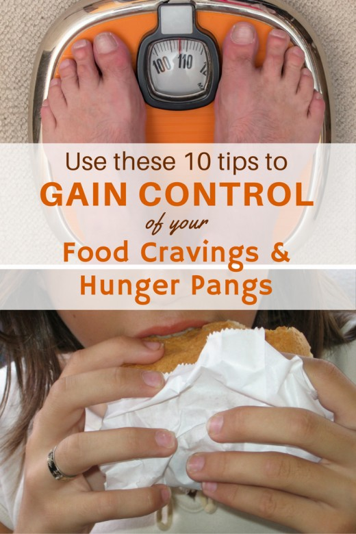 Learn how to control food cravings and hunger pangs by following these 10 methods.