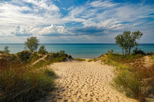 Sand Dune Park is on Lake Michigan in Northwest Indiana, near South Bend.