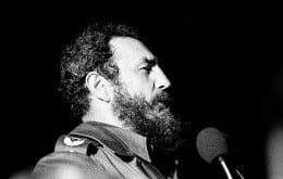 Fidel Castro speaking in Havana, 1978