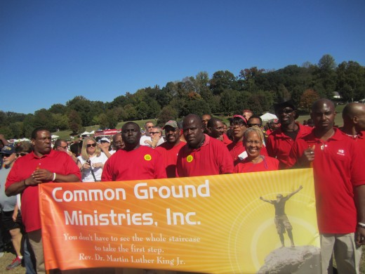 Common Ground Ministries Preparing for the AIDS WALK 2014 AT Piedmont Park in Atlanta, GA.