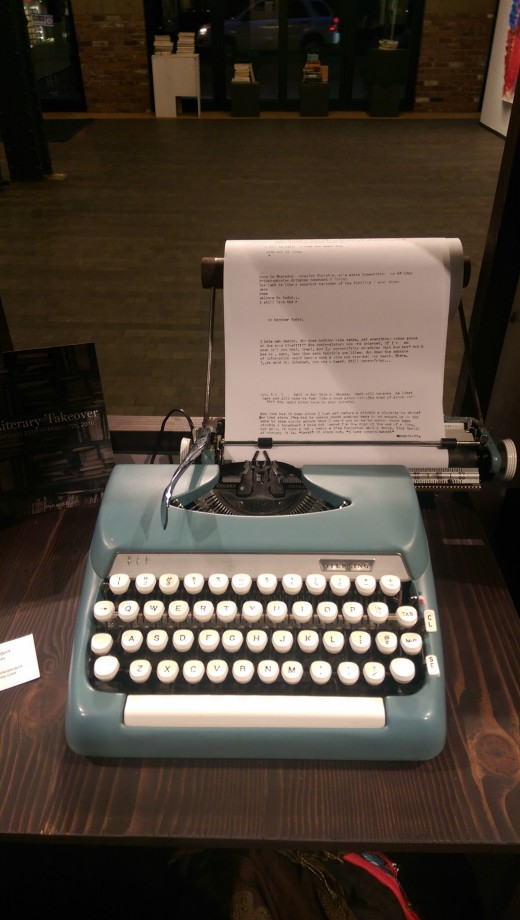 If your recipient has room, you can't beat the sound of an old typewriter.