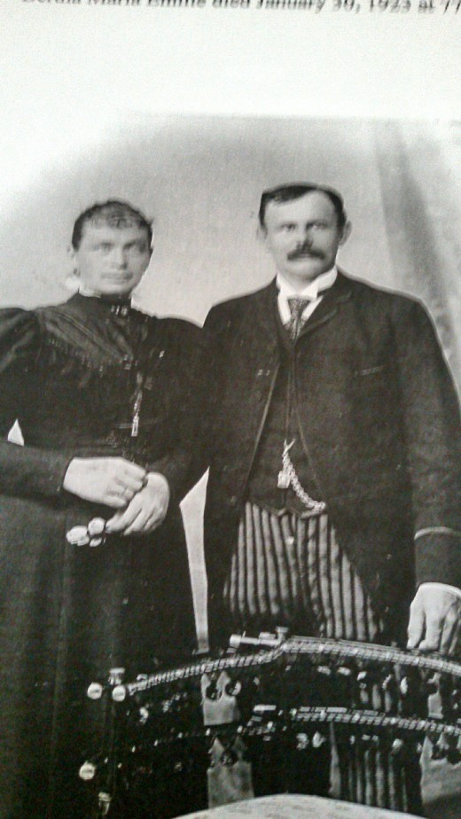 My great-grandfather, Carl August Kuehn, and great-grandmother, Bertha Stamminger Kuehn