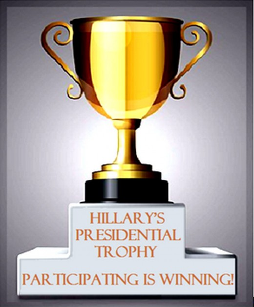 "Participation trophies are awarded for just showing up and playing sports -- and politics is a ""blood sport"""