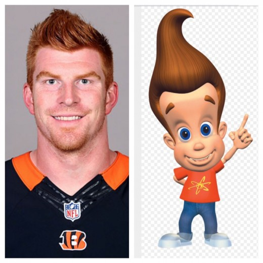 Separated at birth?  Cincinnati Bengals QB Andy Dalton and Jimmy Neutron