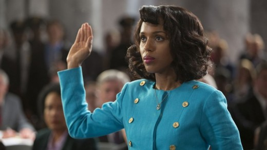Kerry Washington is Anita Hill in Confirmation, the HBO movie on Hill's testimony to the Senate hearing to decide if Clarence Thomas should  to be s  Supreme Court justice or not.