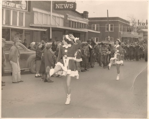 1960's Christmas, downtown Poteau