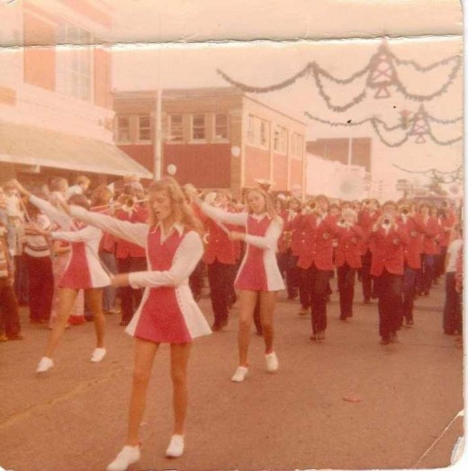 1970's Christmas,  downtown Poteau