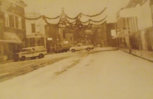 1980's Christmas,  downtown Poteau