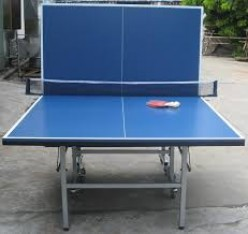 Home ping pong tables can be folded up for storage or folded in half so you can practice solo.