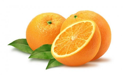 Oranges are healthy for the skin