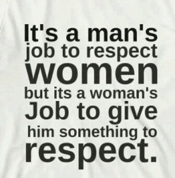 Respect yourself & so will others