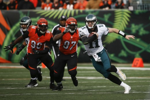 The Cincinnati Bengals defense harassed Philadelphia Eagles QB Carson Wentz into 3 INTs