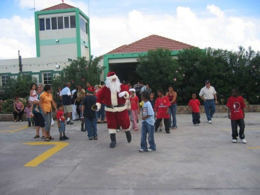 Santa having some fun in the Cayman Islands