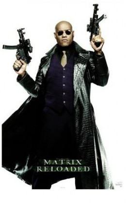 Men's long leather jacket - you don't have to be Laurence Fishburne, but make sure you can fill it out