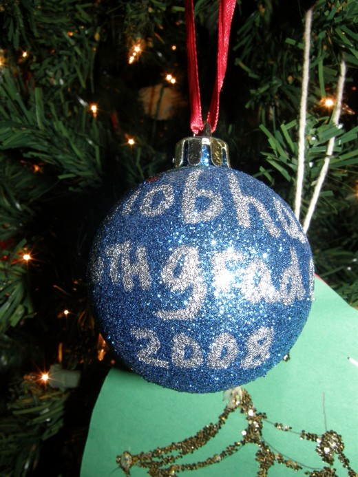 My daughter made this ornament when she was in the 6th grade.