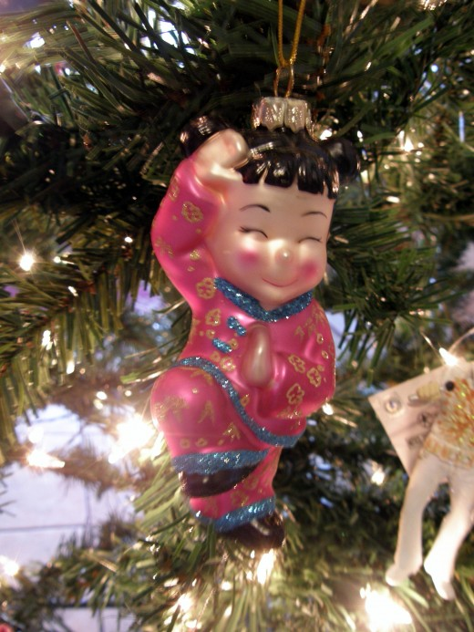 Several Chinese ornaments represent my youngest son's heritage.