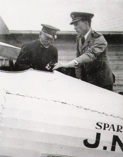 Sempill points out a technical feature to a senior officer of the Japanese Navy