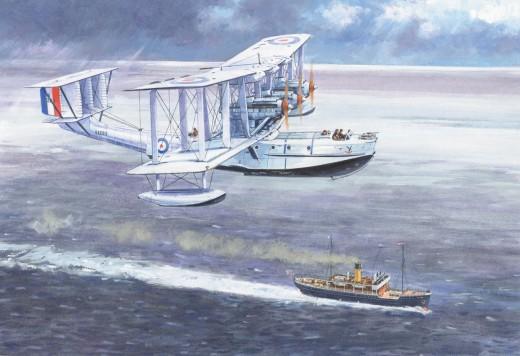The Blackburn 'Iris' Seaplane, undergoing trials 1926